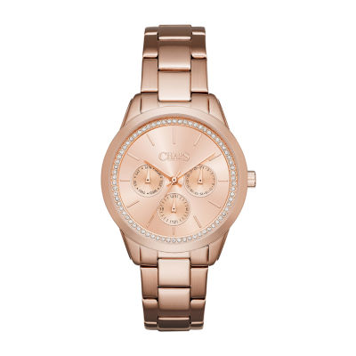Chaps Kasia Womens Rose Goldtone Bracelet Watch-Chp3007