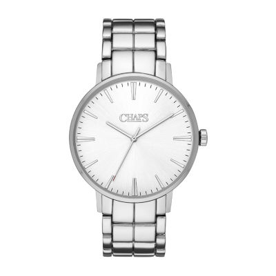 Chaps Dunham Mens Silver Tone Bracelet Watch-Chp4018