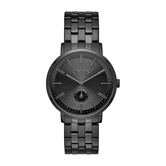 Chaps Dunham Mens Black Bracelet Watch-Chp7010