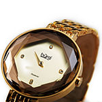 Burgi Womens Diamond Accent Gold Tone Stainless Steel Bracelet Watch-B-253yg