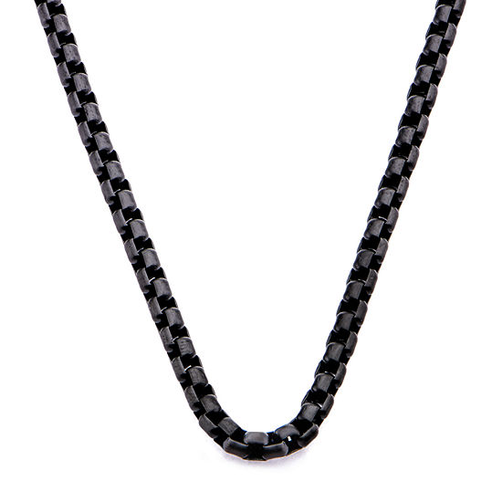 Stainless Steel 22 Inch Box Chain Necklace