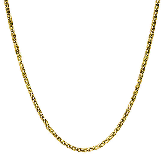 Stainless Steel 24 Inch Wheat Chain Necklace