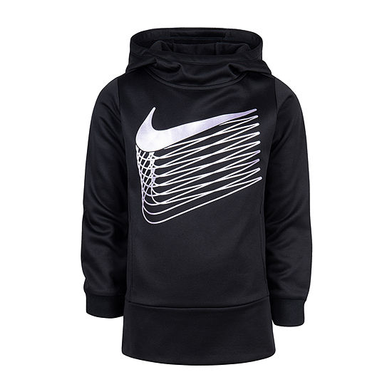 Nike Girls Fitted Sleeve Dri-Fit Hoodie-Preschool
