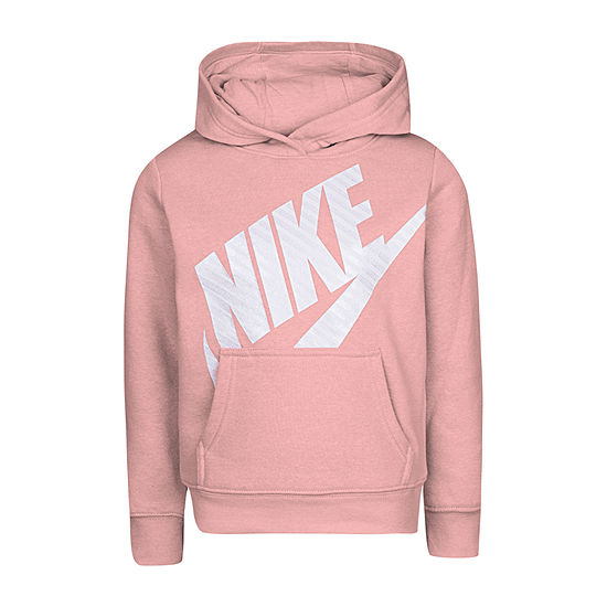 Nike Girls Fitted Sleeve Hoodie-Preschool