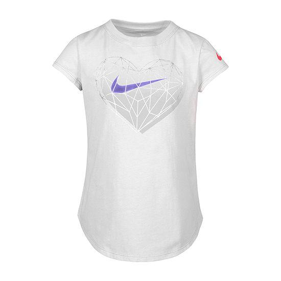 Nike Crew Neck Short Sleeve Graphic T-Shirt Preschool Girls