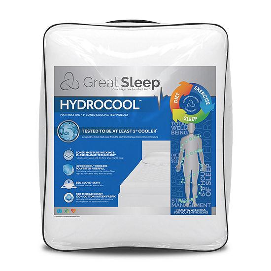 Great Sleep® Hydrocool™ 5° Cooling Advantage™ Mattress Pad
