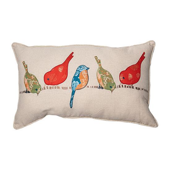 Spencer Tori Birds Rectangular Throw Pillow