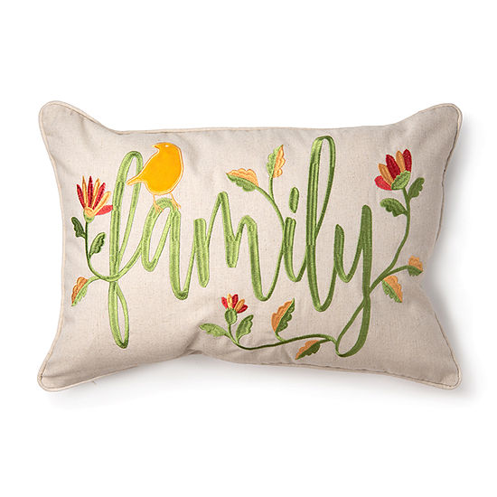 Spencer Family Floral Rectangular Throw Pillow