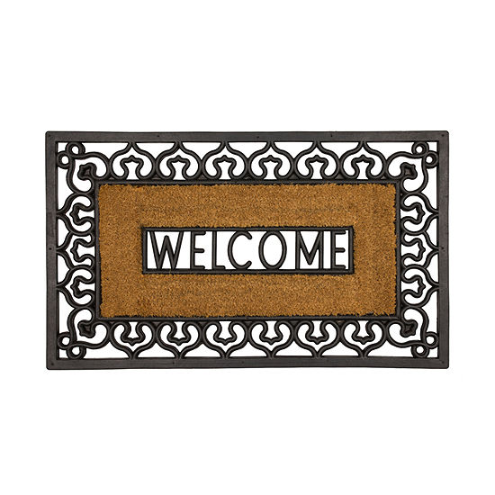 Mohawk Home Welcome Rubber Rectangular Outdoor Doormat
