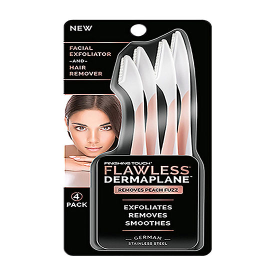 As Seen On Tv Finishing Touch Flawless Dermaplane Facial Exfoliator And Hair Remover Set Of 4