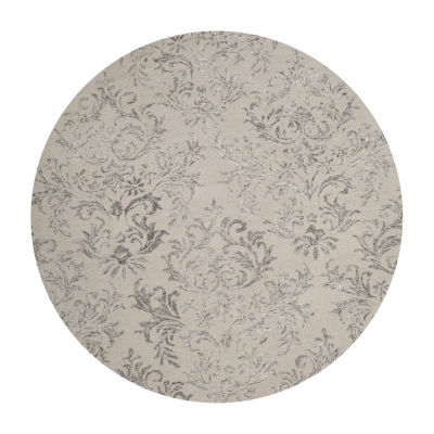 Safavieh Glamour Collection Aaron Damask Round Area Rug