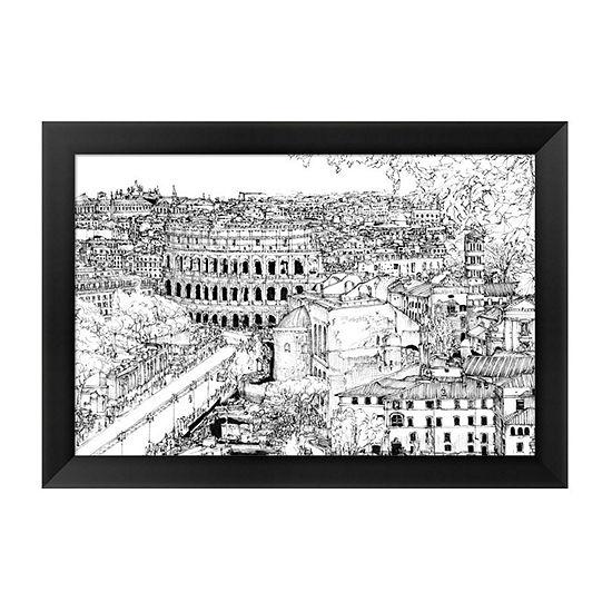 Metaverse Art Tour of Europe III Framed Wall Art