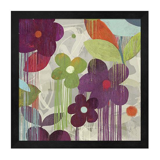 Metaverse Art Graphitti Flower II Framed Wall Art