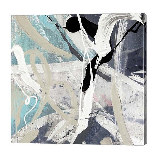 Metaverse Art Tangled IV Teal Canvas Art
