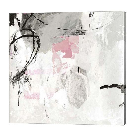 Metaverse Art Gray Pink I Canvas Art