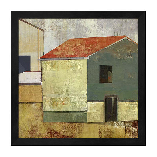 Metaverse Art Abstract Construction II Framed WallArt