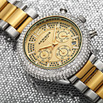 Akribos XXIV Mens Chronograph Crystal Accent Two Tone Stainless Steel Bracelet Watch-A-1075ttg