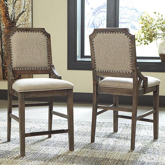 Signature Design by Ashley® Wyndahl Upholstered Barstool-Set of 2