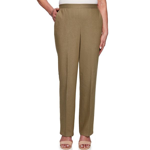 c348d6fcb6a762 Alfred Dunner Lake Tahoe Womens High Waisted Straight Pull-On Pants