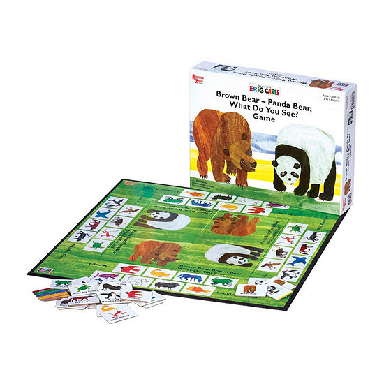University Games Brown Bear - Panda Bear What Do You See? Game Board Game