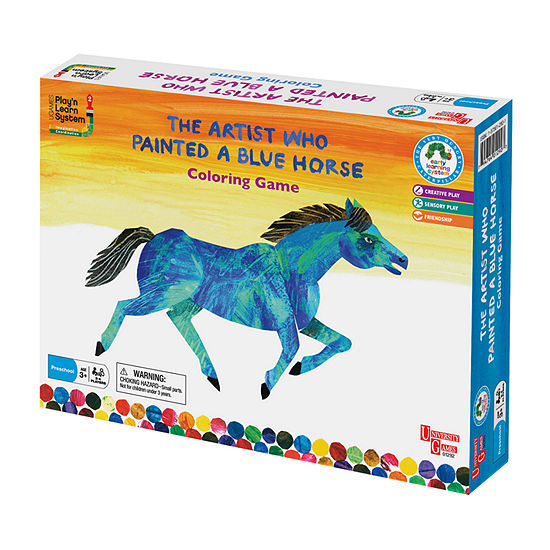University Games The Artist Who Painted A Blue Horse Coloring Game Board Game