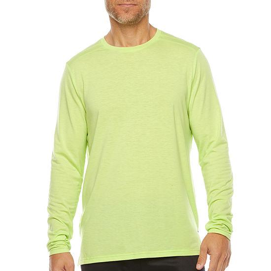Xersion Running Mens Crew Neck Long Sleeve T-Shirt
