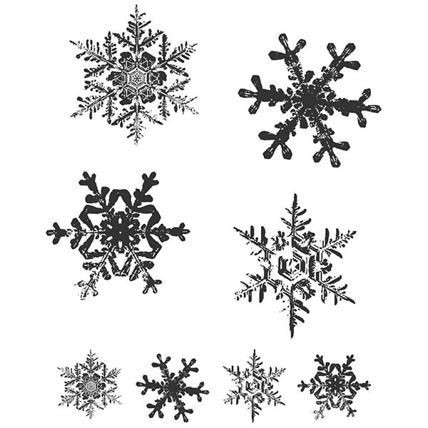 Tim Holtz® Cling Rubber Stamp Set, Grunge Flakes
