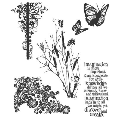 Tim Holtz® Cling Rubber Stamp Set, Nature's Discovery