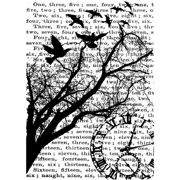 Tim Holtz® Cling Rubber Stamp, Time