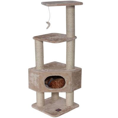 "Majestic Pet 52"" Casita Faux Fur Cat Tree"