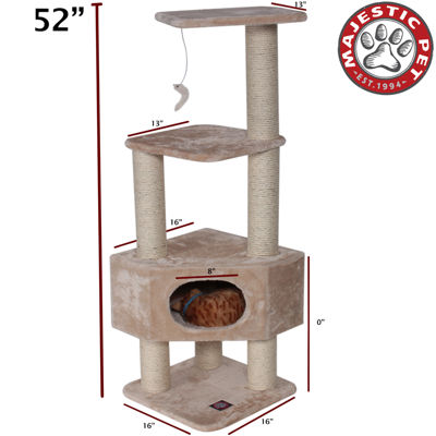 "Majestic Pet 52"" Casita Faux Fur Cat Tree"