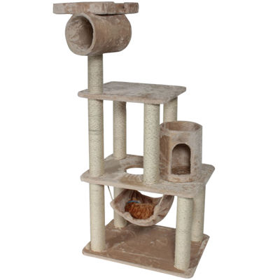 "Majestic Pet 62"" Casita Faux Fur Cat Tree"