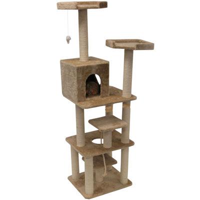 "Majestic Pet 78"" Casita Faux Fur Cat Tree"