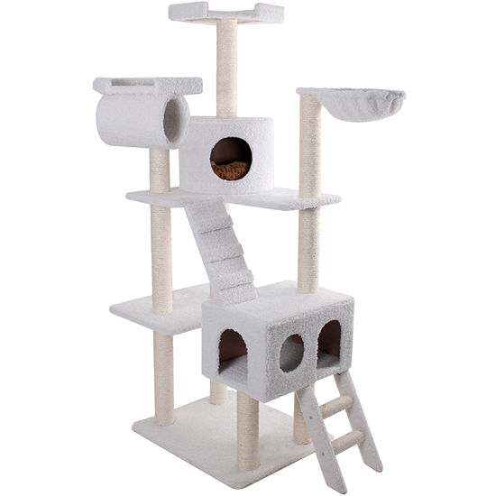 "Majestic Pet 73"" Bungalow Cat Tree - Sherpa"
