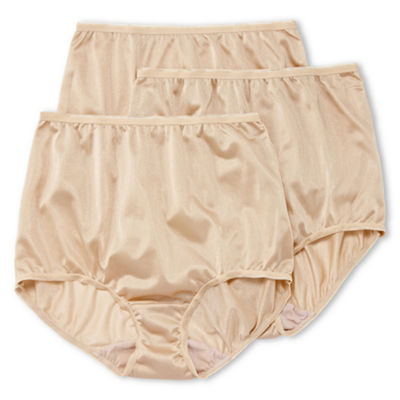 Underscore Nylon 3 Pair Microfiber Brief Panty 0218711