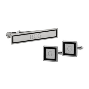 Personalized Tie Bar & Cuff Links Set