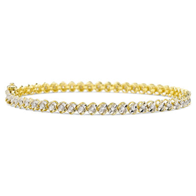 1 CT. T.W. Diamond 10K Yellow Gold Tennis Bracelet