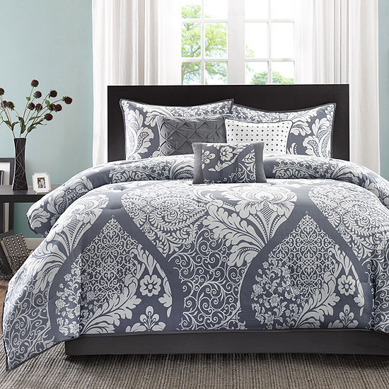 Madison Park Marcella Contemporary 7-pc. Cotton Printed Comforter Set