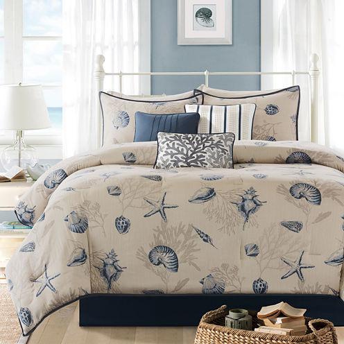 Madison Park Nantucket Coastal 7-pc. Cotton Printed Comforter Set