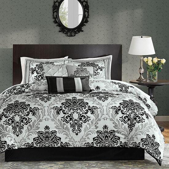 Madison Park Larissa 7 Pc Damask Comforter Set