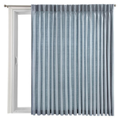 Royal Velvet® Supreme Pinch Pleat/Back Tab Thermal Patio Door Panel
