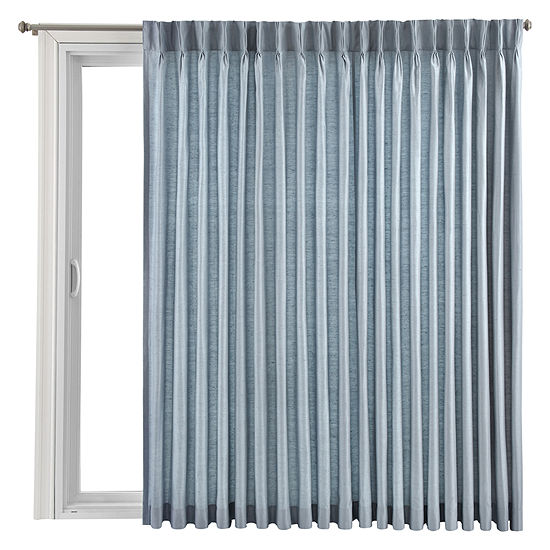 Royal Velvet Supreme Pinch Pleat Back Tab Thermal Patio Door Panel Jcpenney