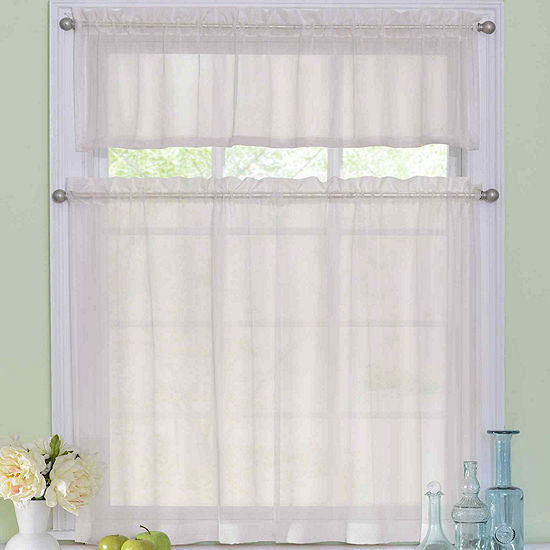 Rod-Pocket Kitchen Curtain Set