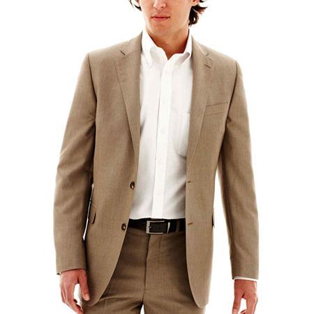 JF J. Ferrar End on End Suit Jacket - Classic Fit, 38 Long, Brown
