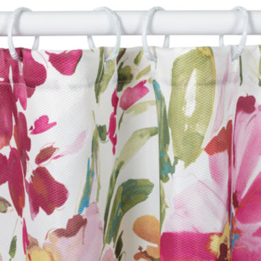 Watercolor Floral Shower Curtain