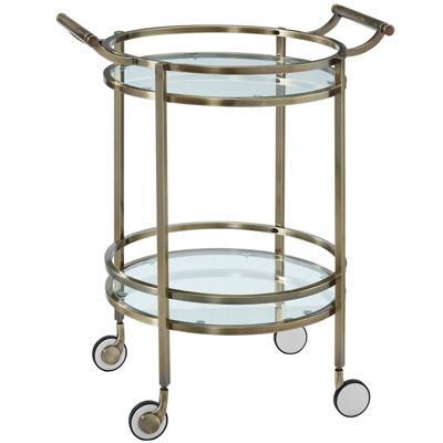 Delancey Round Serving Cart