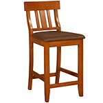 Lloyd Upholstered Barstool with Slat Back