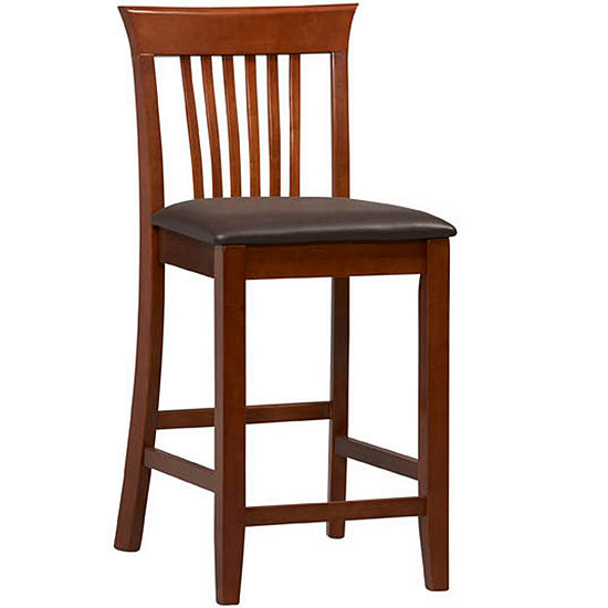 Wright Upholstered Barstool with Mission Back