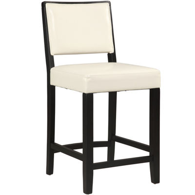 Josie Faux-Leather Upholstered Barstool with Back