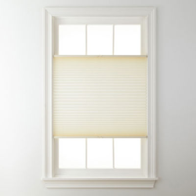"JCPenney Home™ Top-Down/Bottom-Up Cordless 1"" Linen Pleated Shade - FREE SWATCH"